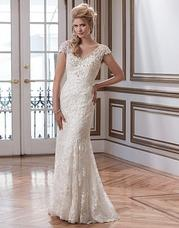 8787 Beaded venice lace and tulle fit and fla