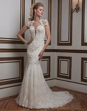 8796 Venice and Chantilly lace fit and flare