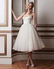 8800 Regal satin and tulle tea length ball go
