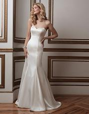 8802 Luxe charmeuse fit and flare accentuated