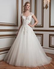 8807 Beaded lace and tulle, ball gown complem