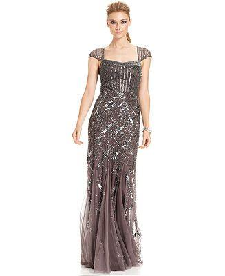 Vintage Style Beaded Gown - Limited Availability