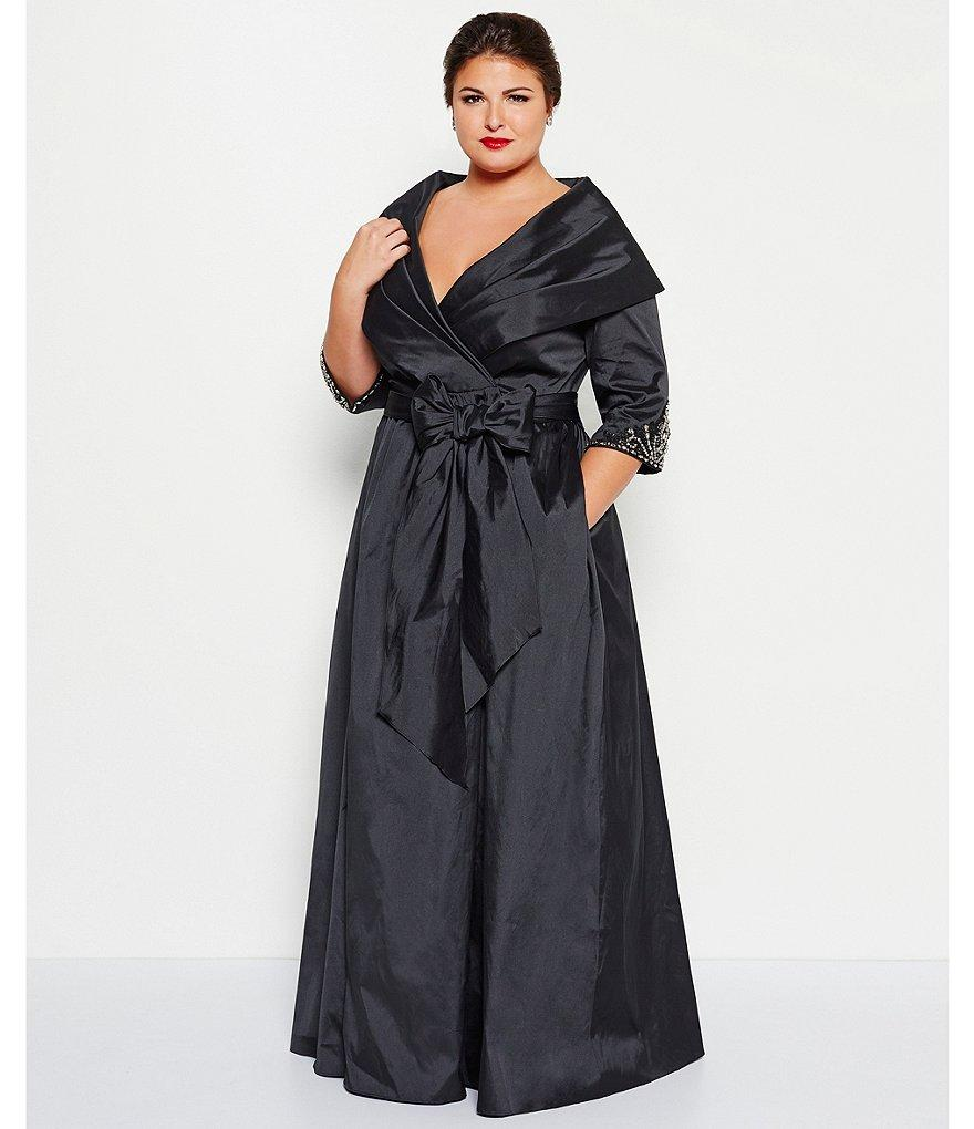 Luxe Collection Women's Plus Size Wrap Ballgown