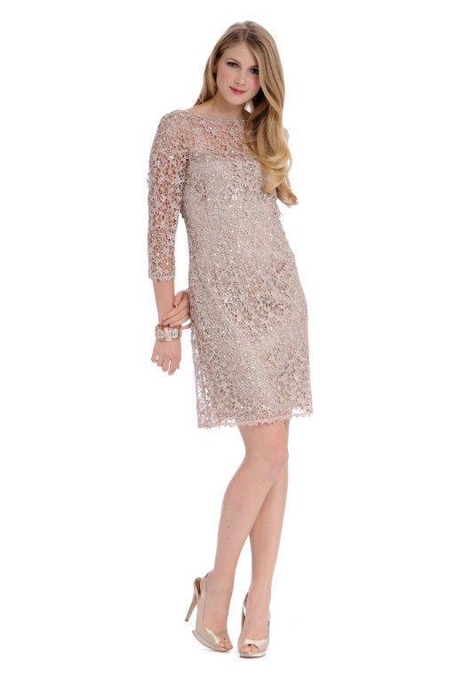Blush Beaded Lace Dress