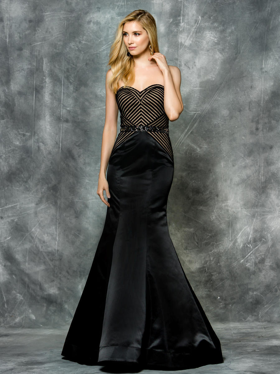 Strapless 2 Toned Gown