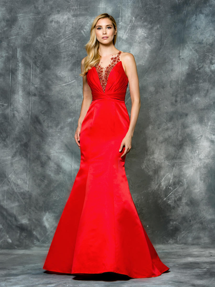 Luxe Collection Evening Gown with Beaded Bodice