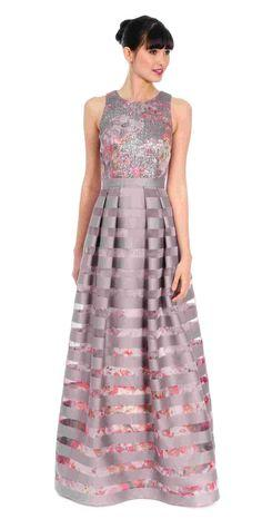 Platinum Kay Unger Gown