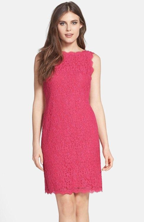 Sleeveless Lace Dress with Back Zipper