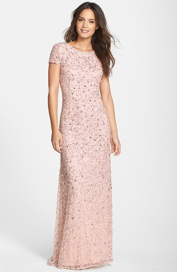 Luxe Collection Blush Beaded Gown