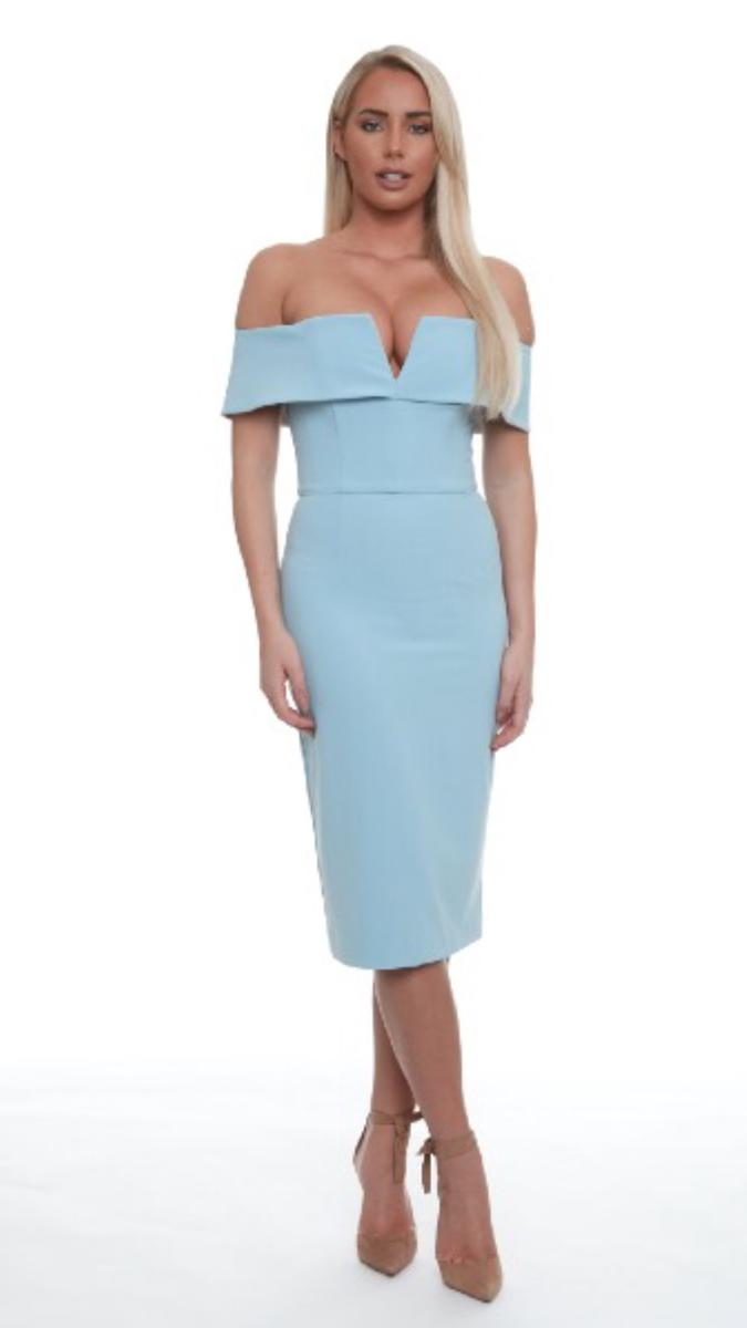Off Shoulder Pencil Cocktail Dress