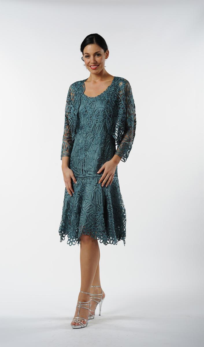 Sandra - Tea Length Dress with Jacket