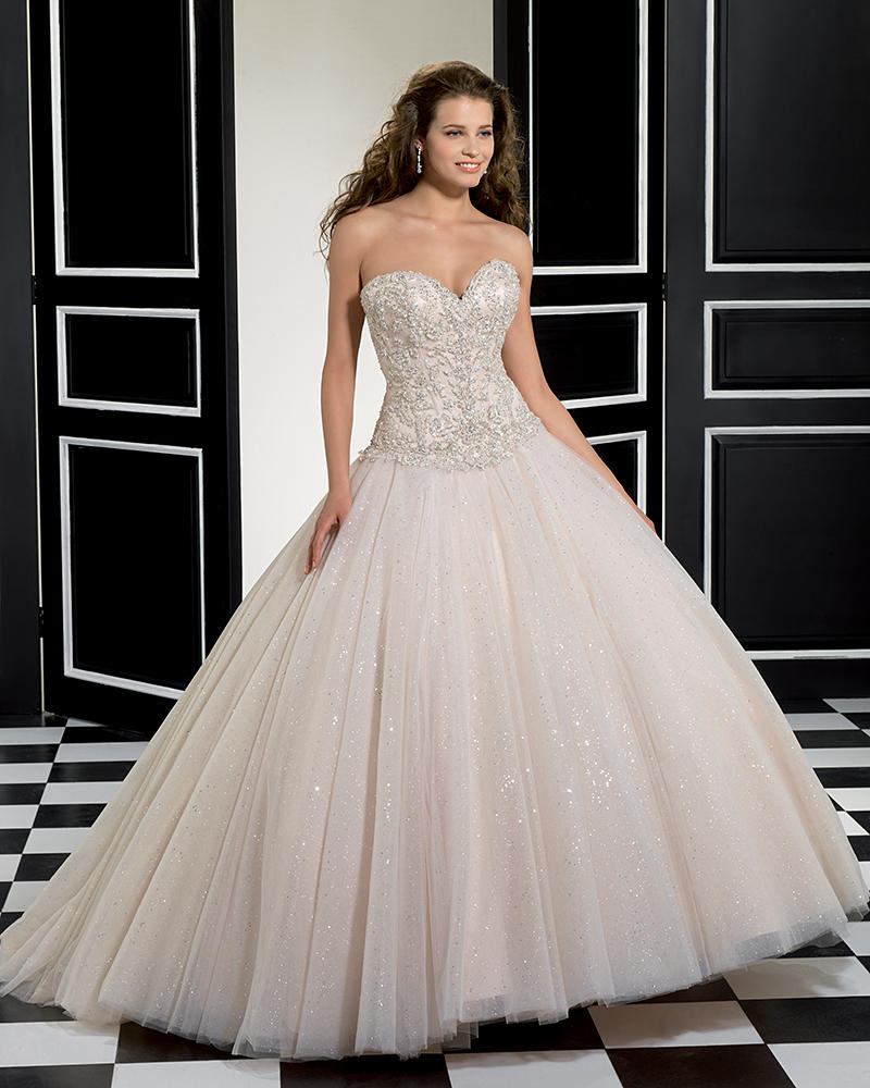 Soft Tulle/Sparkling Tulle/Crystal Beading