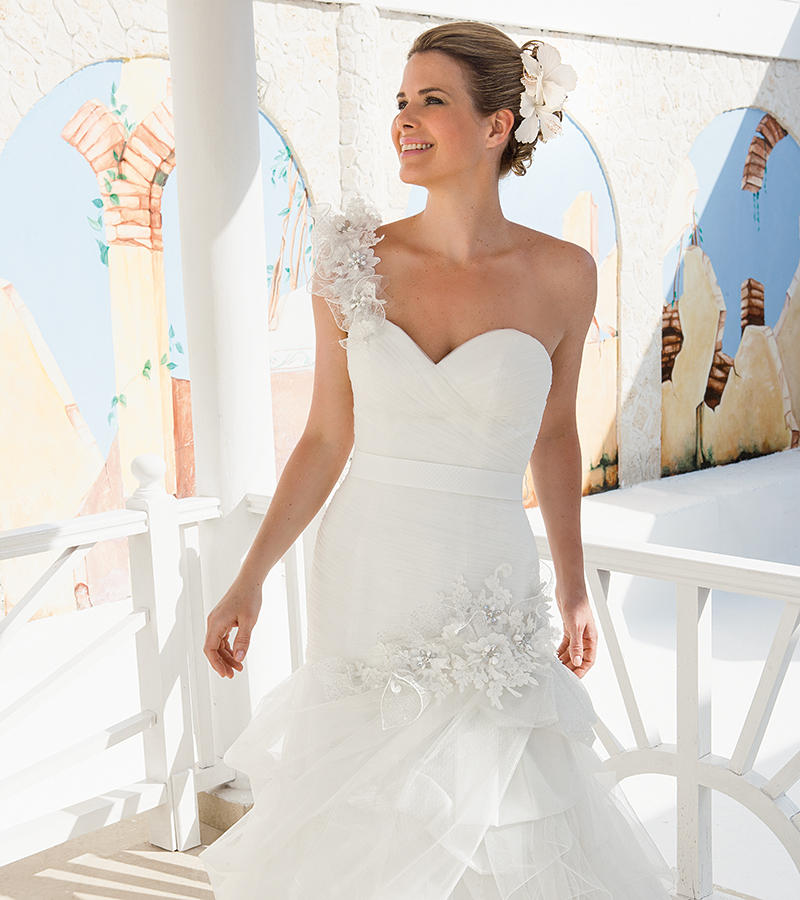 Soft Tulle/Beaded Corded Lace