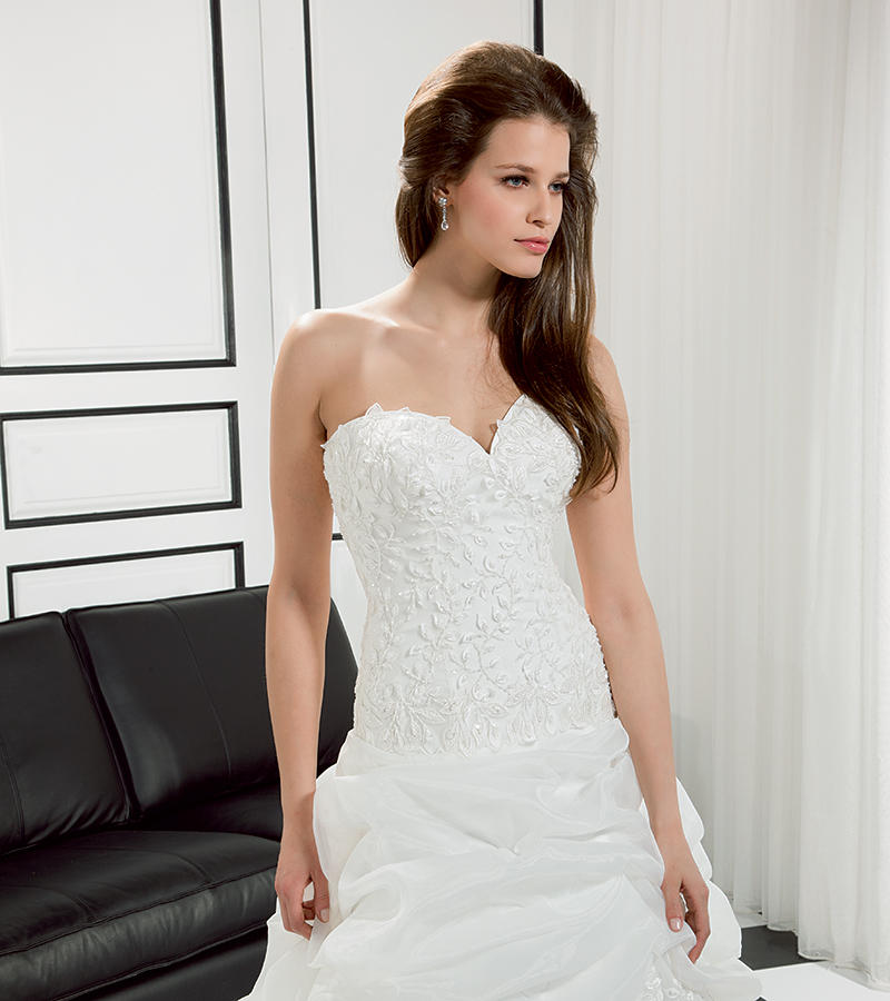 Organza/Beaded Embroidered Soft Tulle 3D