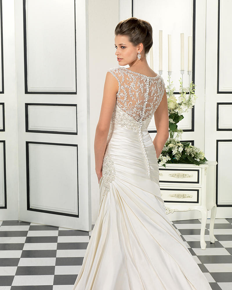 Satin/Beaded Embroidered Lace