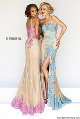9817<br>Orig: $500.00 Sherri Hills Fitted Lace long gown