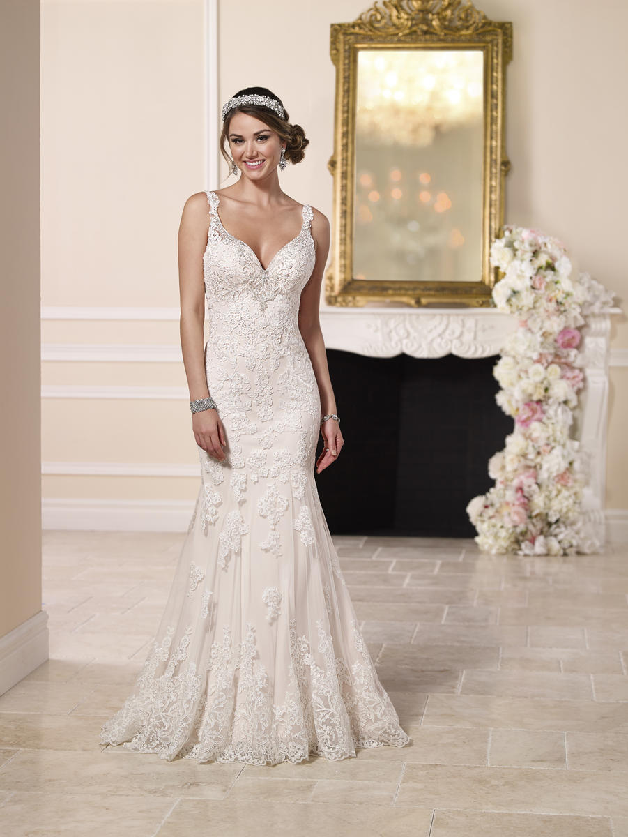 Sparkling Train Wedding Dress by Stella York6142 Sparkling Train Wedding Dress b