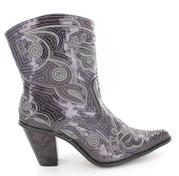 LB-0290-11-Grey Short Bling Boots