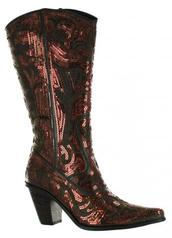 Bronze Sequin Boots