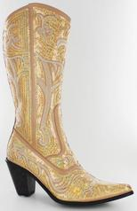 LB-0290-12-Gold Gold Sequin Boots