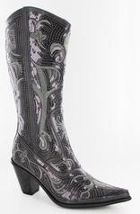 LB-0290-12-Pewter Pewter Bling Boots