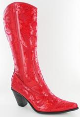 LB-0290-12-Red Red Bling Boots