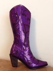 Purple Sequin Boots