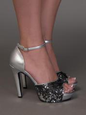478 Glitter Platform Sandal