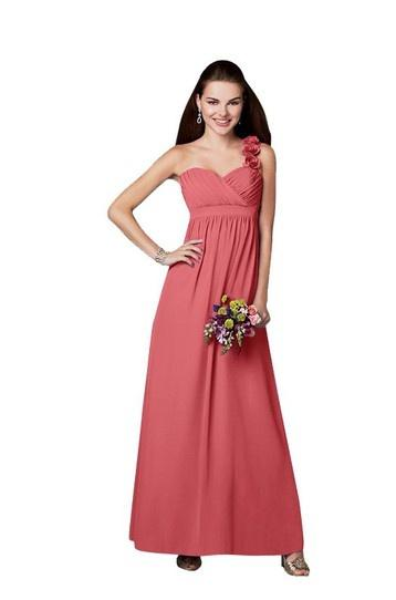 Alfred Angelo long one shoulder gown.