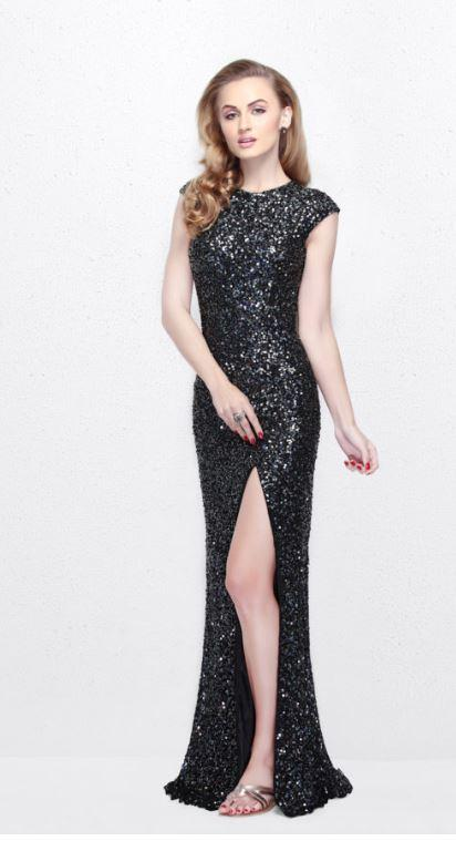 Primavera Long Sequined Gown