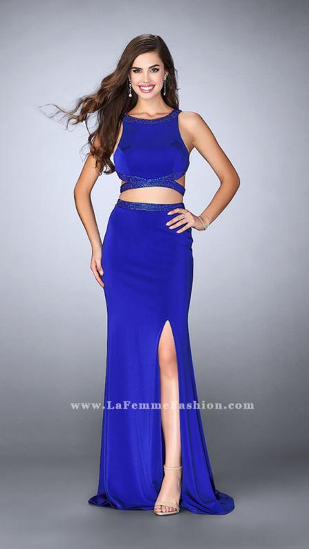 La Femme Two Piece Dress With Cutouts