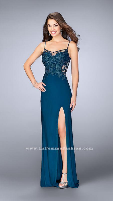 La Femme Dress With Mesh and Lace Details