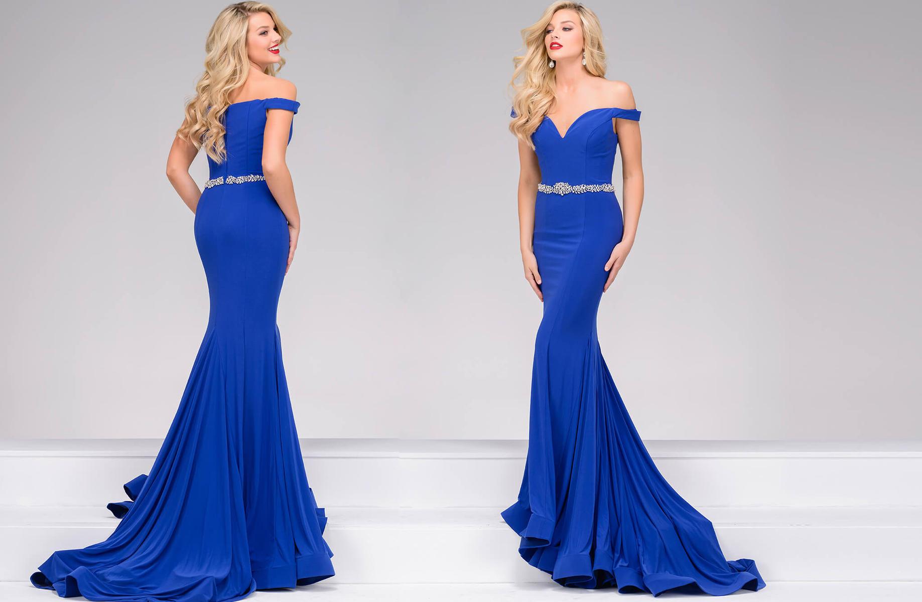Jovani Off the Shoulder Mermaid Dress