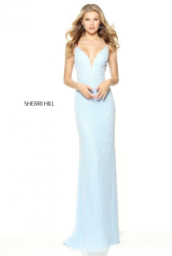 Sherri Hill Beaded Sheath Gown
