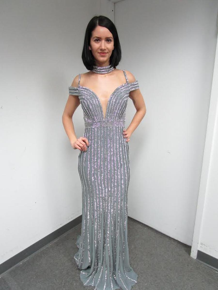 Jovani Long Beaded dress