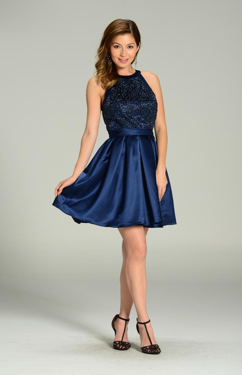 POL Satin Homecoming Dress