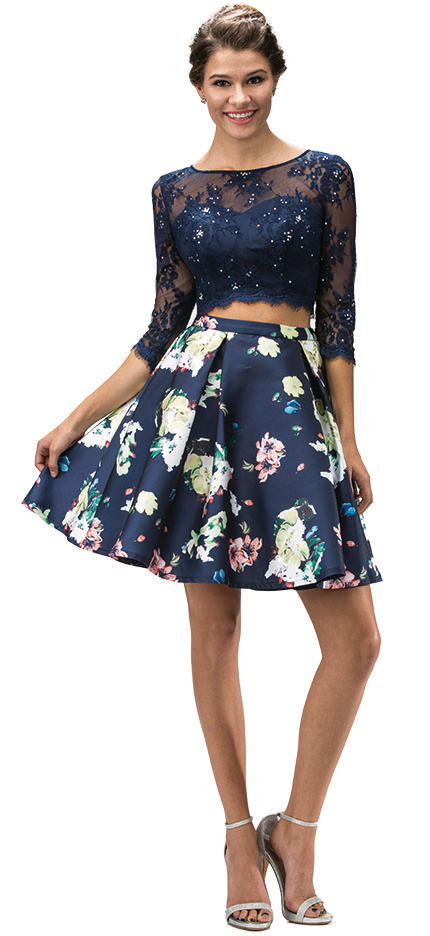 DQ Two Piece Floral Dress