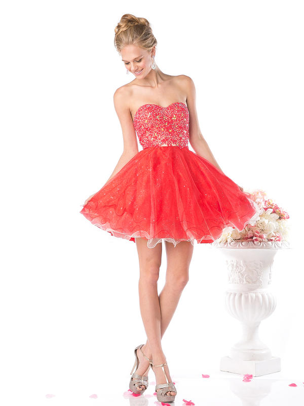 CD Strapless Homecoming Dress with Sparkle