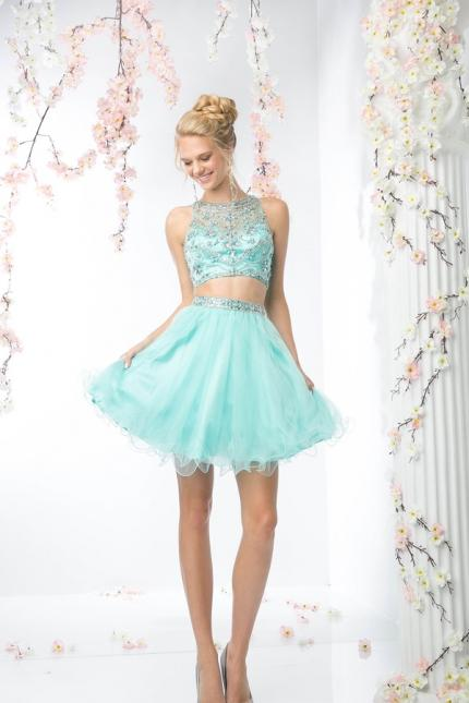 CD Two Piece Prom Homecoming Dress