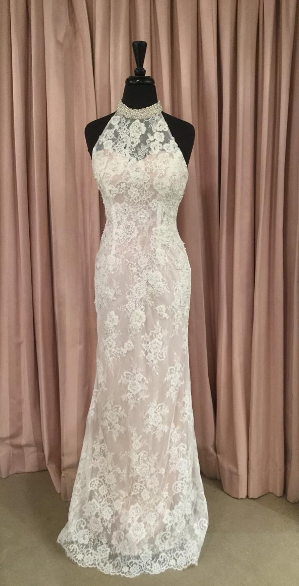 Glitterati Exclusive Lace Dress with High Neckline