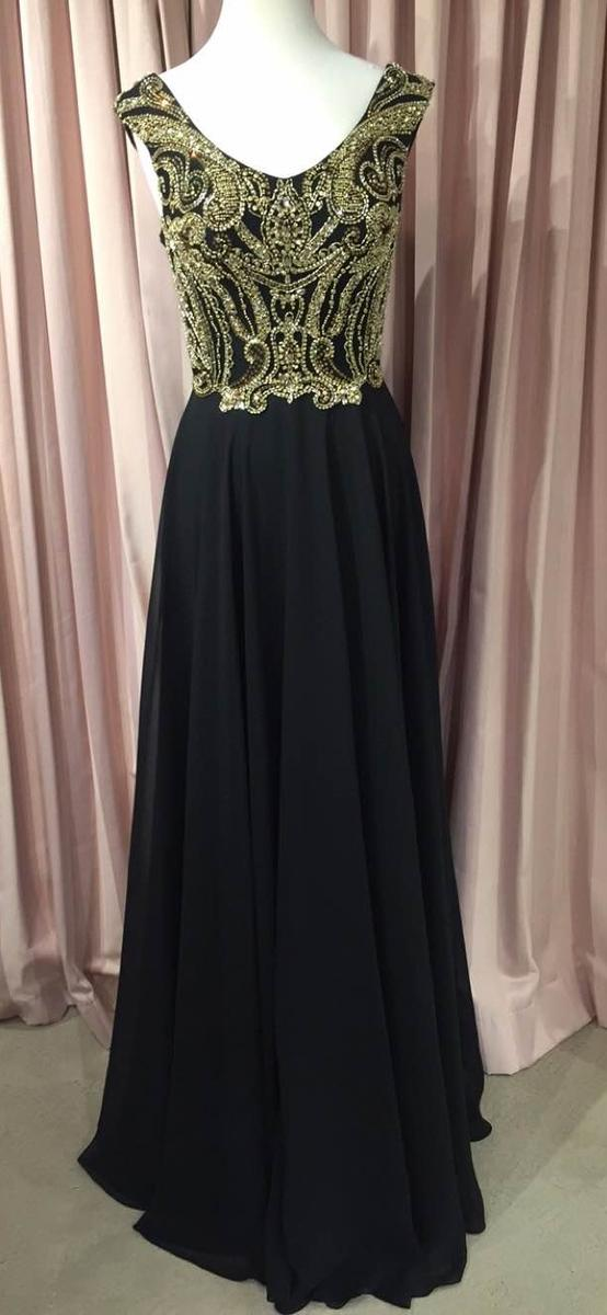 Jovani long dress cap sleeve