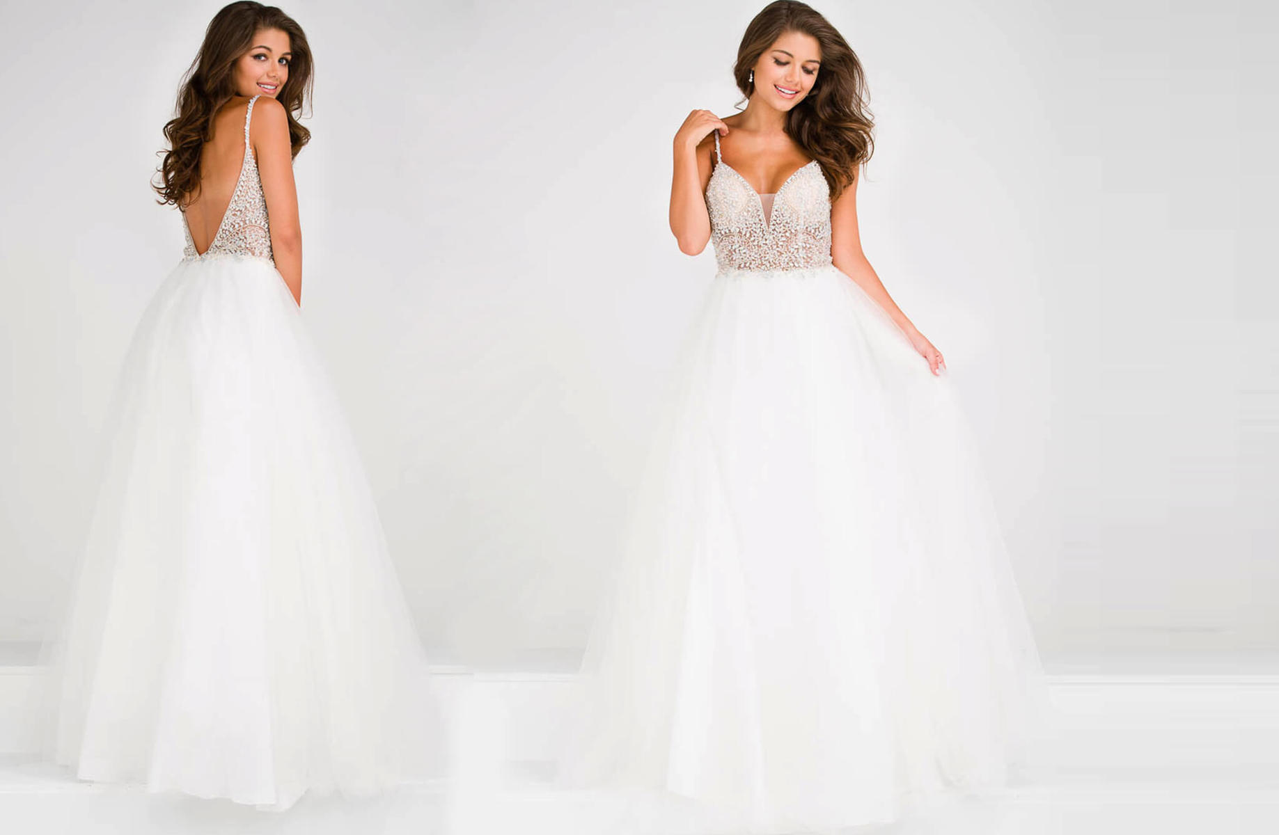 Long VNeck Ballgown