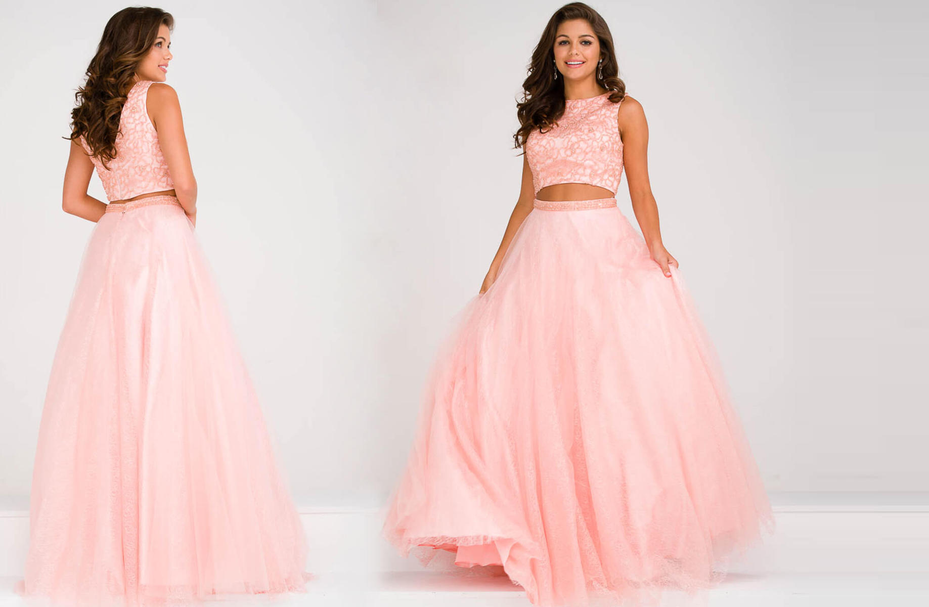 JVN by Jovani Two-Piece Lace & Tulle Ballgown JVN47919