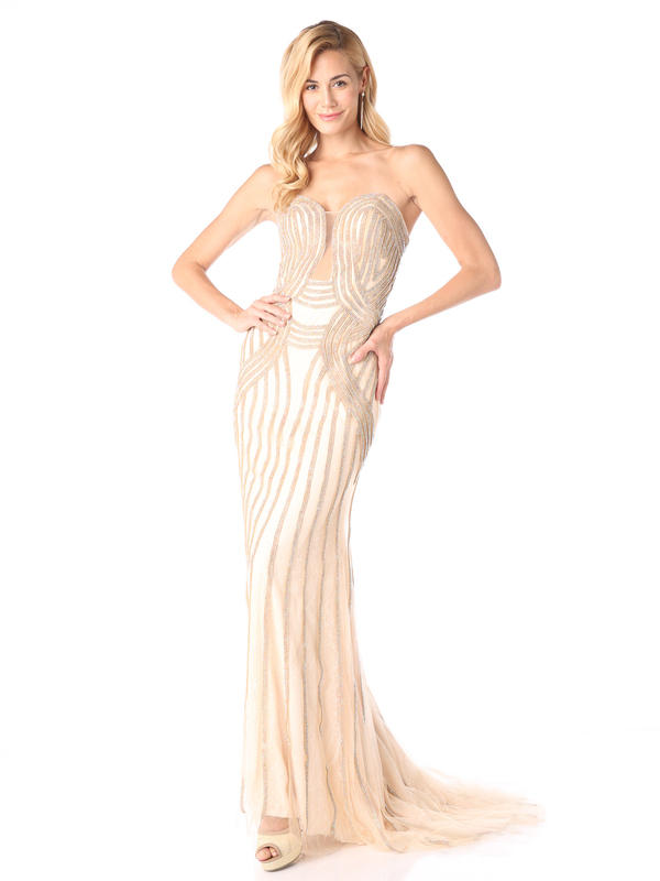 CD Form Fitting Evening Gown
