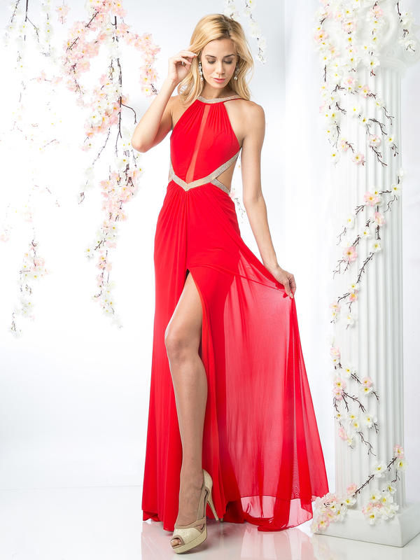 CD Halter Top Evening Dress