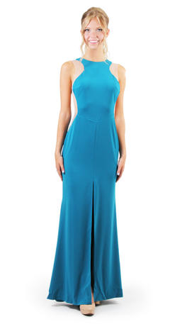 Xscape Gown with Sheer Zipper Back