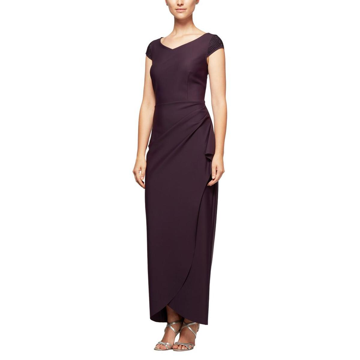 Short Sleeve Wrap Waist Jersey Gown