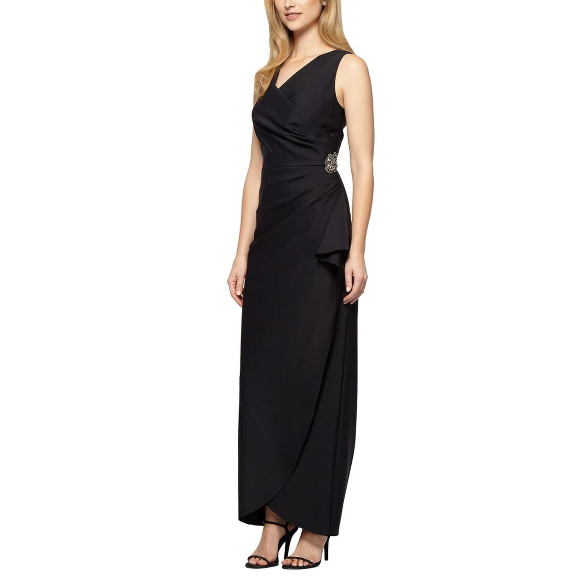 Satin Gown Wrap Waistline