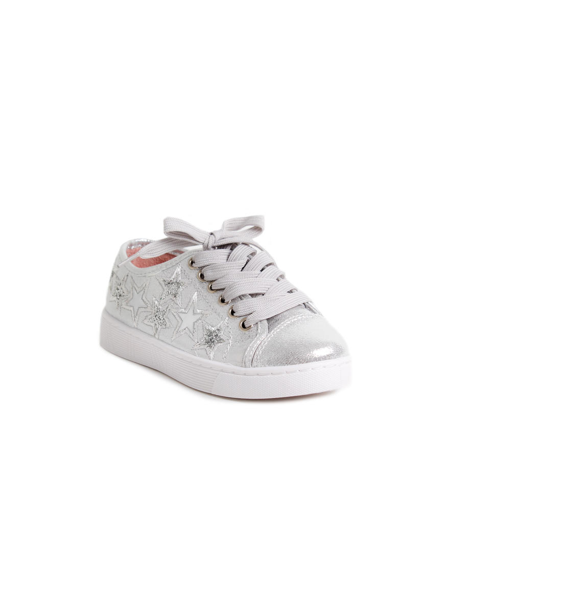 Metallic Star Embroidered Lace Sneaker