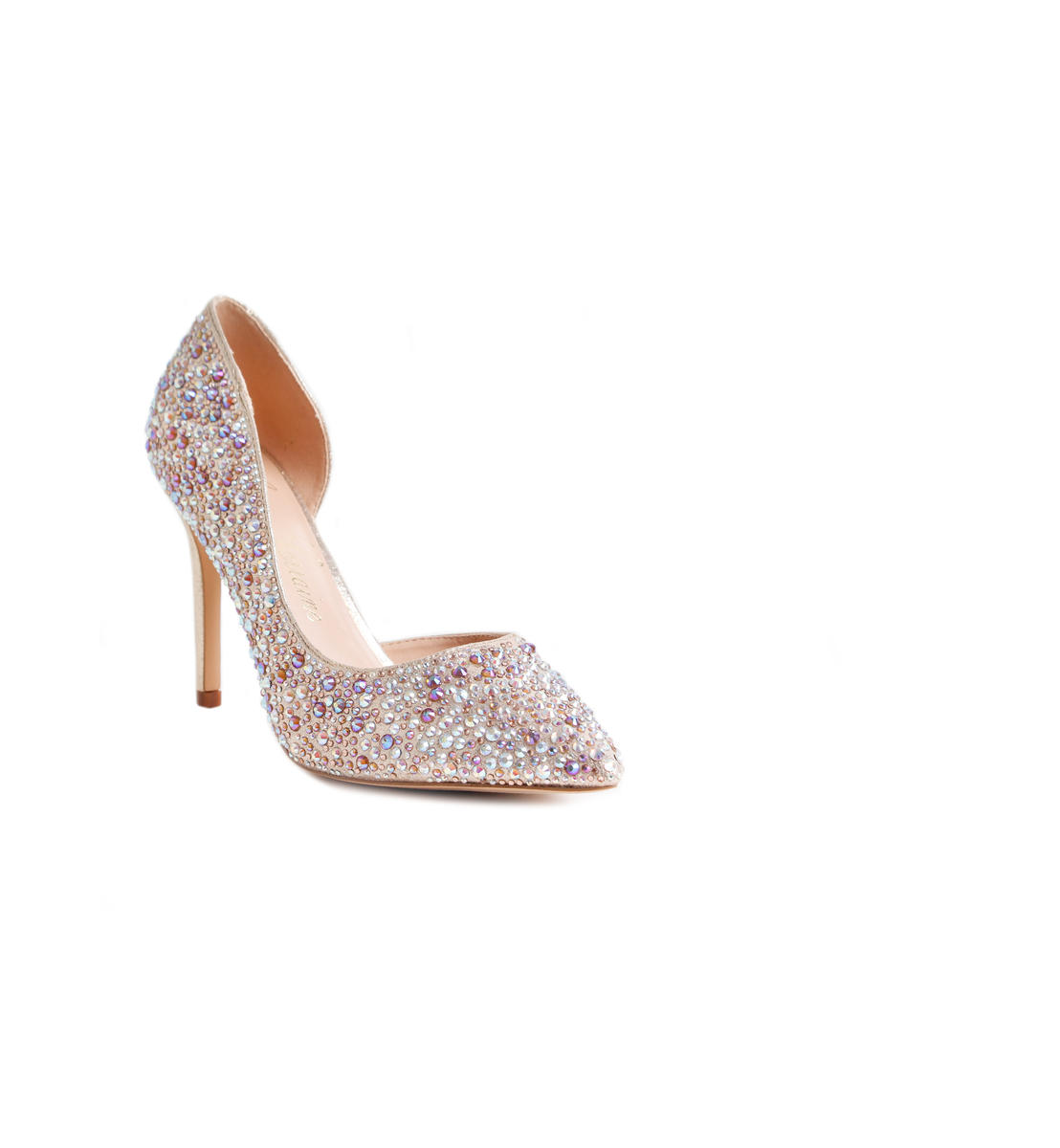 Embellished Pointy Pump Heel